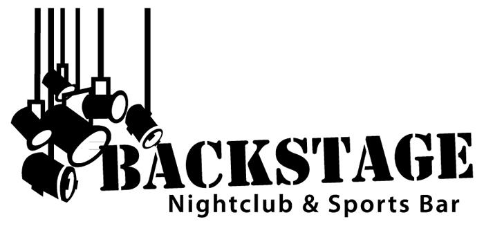 Backstage Nightclub & Sports Bar Logo (Black)