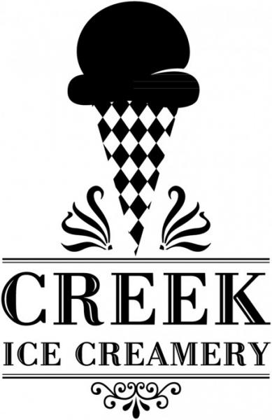 Creek Ice Creamery Logo (noir)