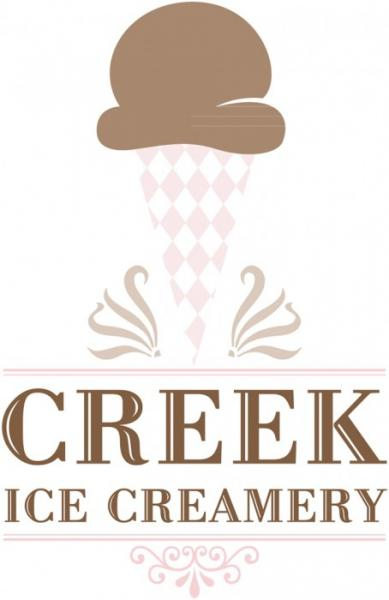 Creek Ice Creamery Logo (Couleur)