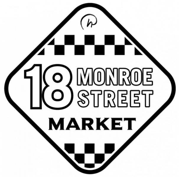 18 Monroe Street Market Logo (Black)