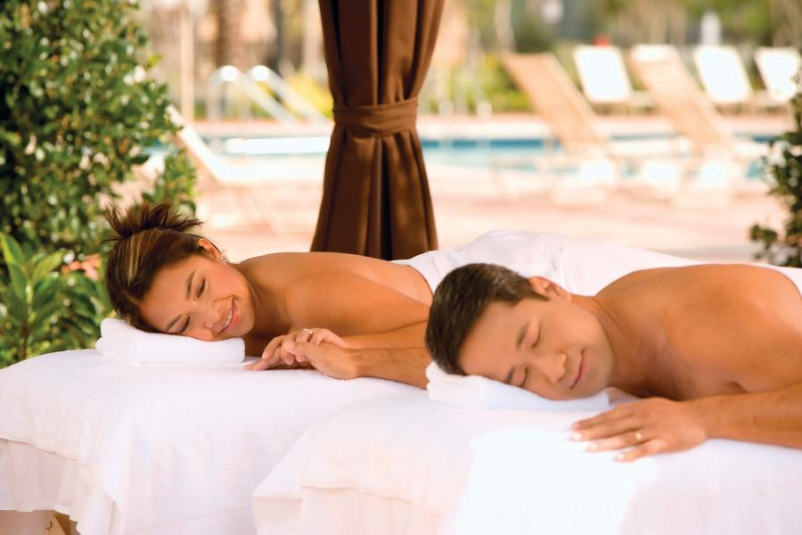 Experience spa nirvana with a poolside spa treatment in one of Rosen Shingle Creek's private cabanas