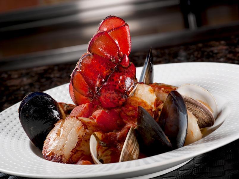 Cala Bella's Seafood Pescatore.