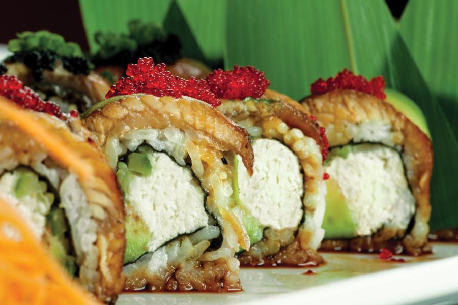 Banrai Sushi's  Dancing Eel Roll.