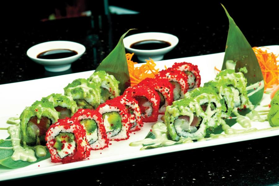 Banrai Sushi - Two Plated Rolls