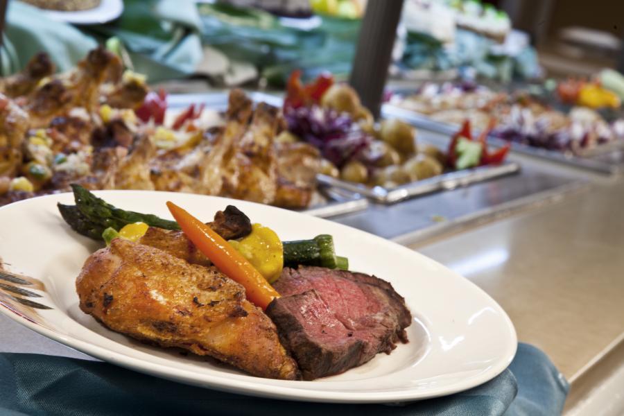 Dinner Buffet Plate