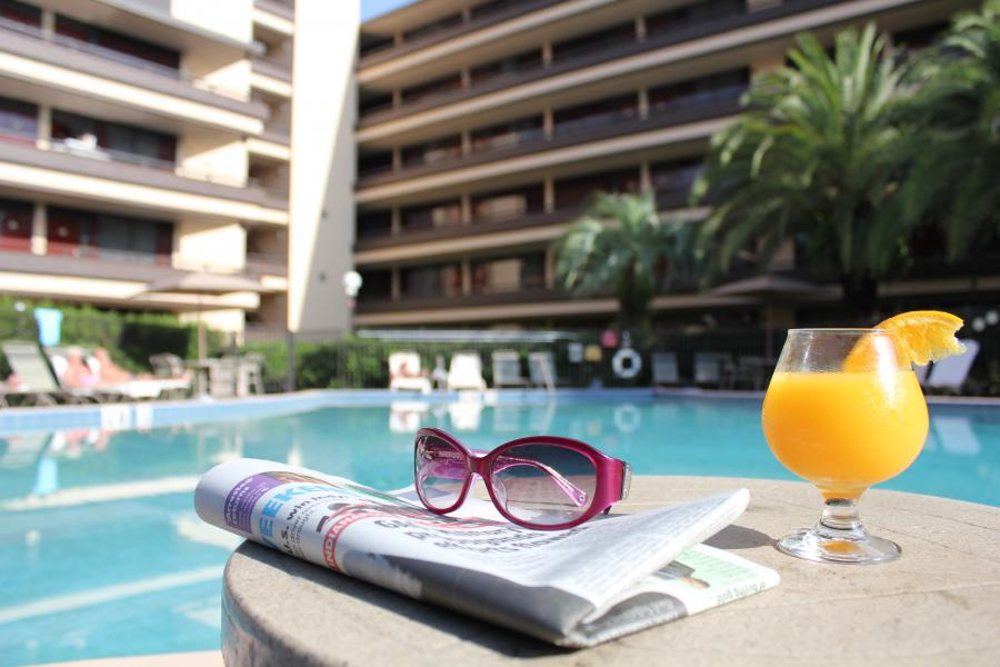 Pool with Sunglasses and Drink