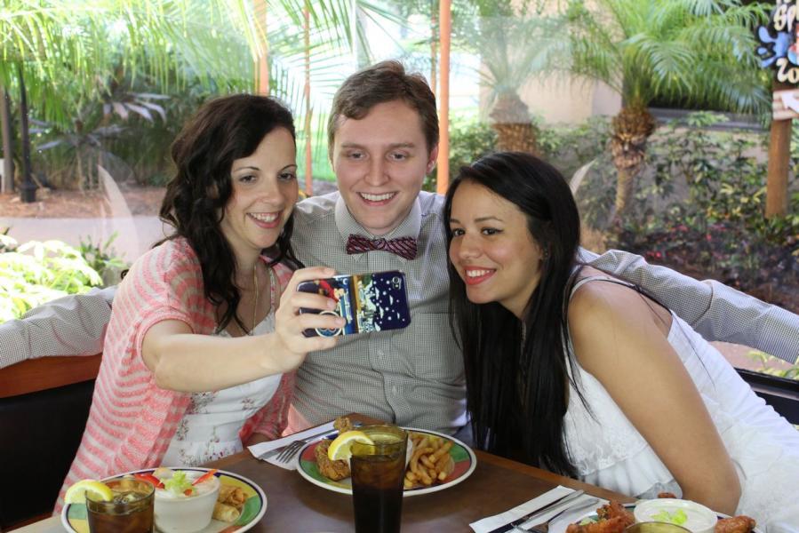Having fun at the Boardwalk Buffet Restaurant