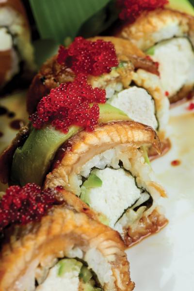 Banrai Sushi Dancing Eel Roll.