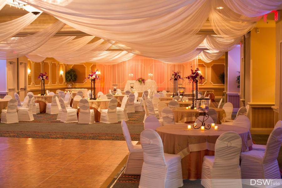 Dramatic drapery is a specialty for Rosen Plaza Weddings.