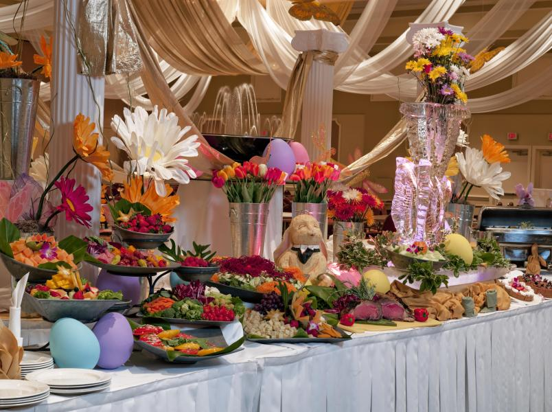 Rosen Plaza's Easter Day Buffet in the Grand Ballroom draws locals and guests alike.