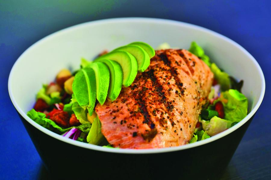 '39 Poolside Bar & Grill Salmon Salad.