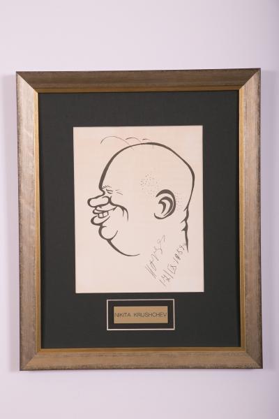 Caricature- Nikita Krushchev