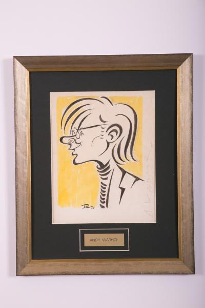 Caricature- Andy Warhol