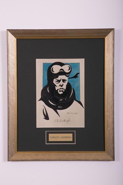 Caricature- Charles Lindbergh