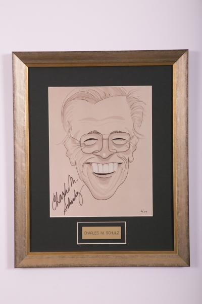 Caricature- Charles M. Shulz
