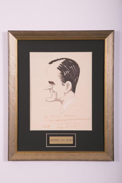 Caricature- George H.W. Bush