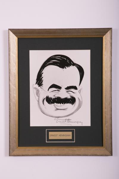 Caricature- Ernest Hemingway