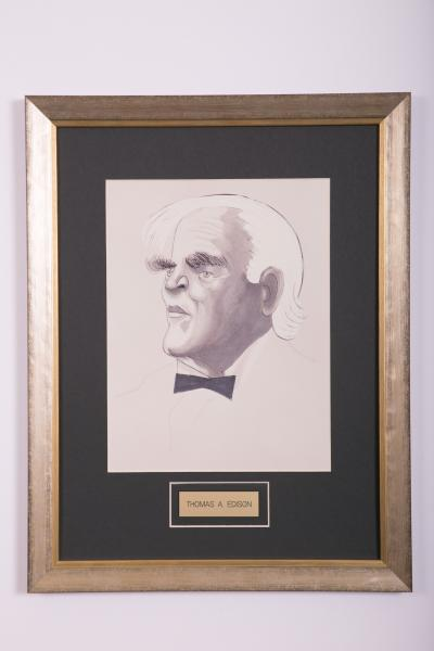 Caricature- Thomas A. Edison
