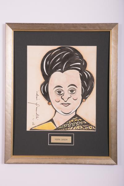 Caricature- Indira Gandhi