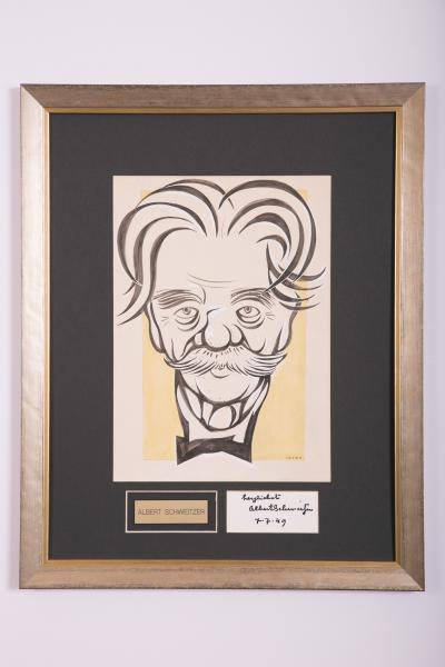 Caricature- Albert Schweitzer