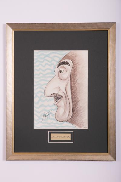 Caricature- Jacques Cousteau