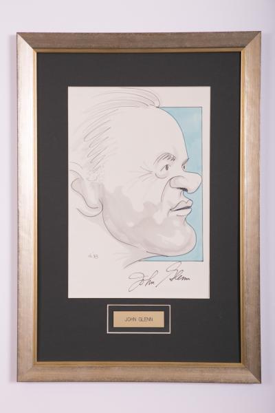 Caricature- John Glenn