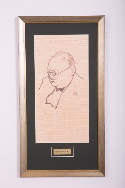 Caricature- Winston Churchill