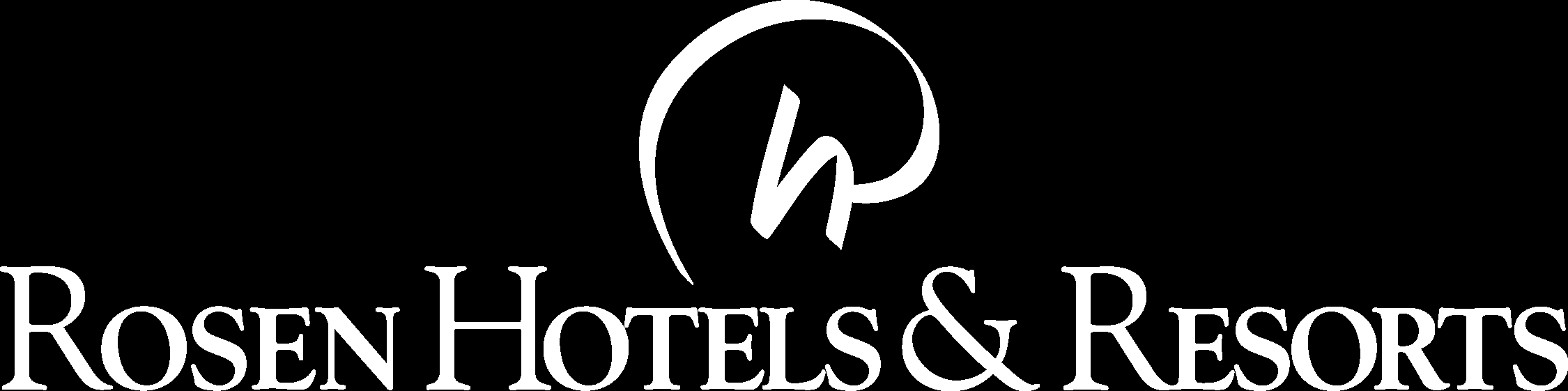 Rosen Hotels & Resorts Reverse Logo