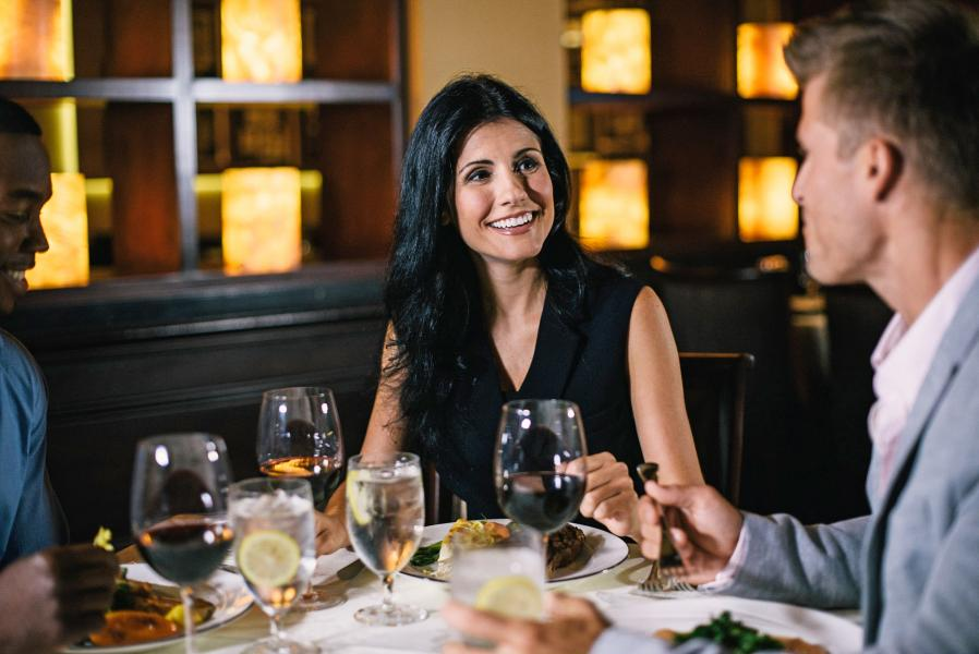 Guests enjoy fine dining at Jack's Place at Rosen Plaza.