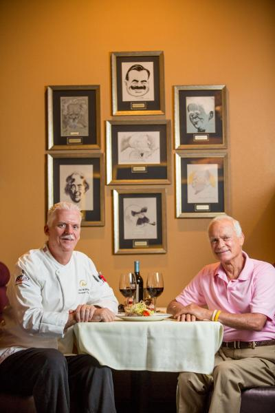 Jack's Place Restaurant with Harris Rosen and Executive Chef Michael McMullen.
