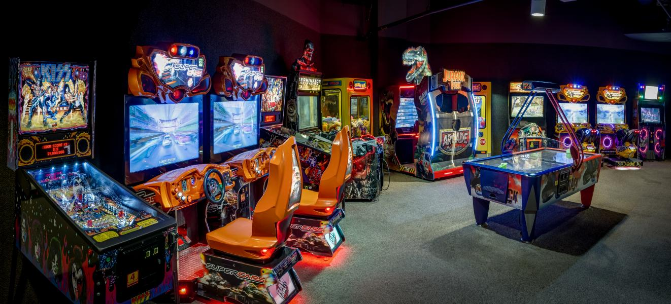 Young and young-at-heart find gaming fun at Rosen Shingle Creek's lively video arcade.
