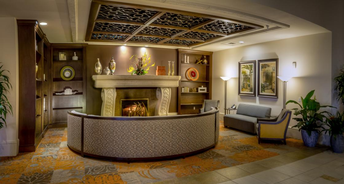 Fireplace / Seating Area
