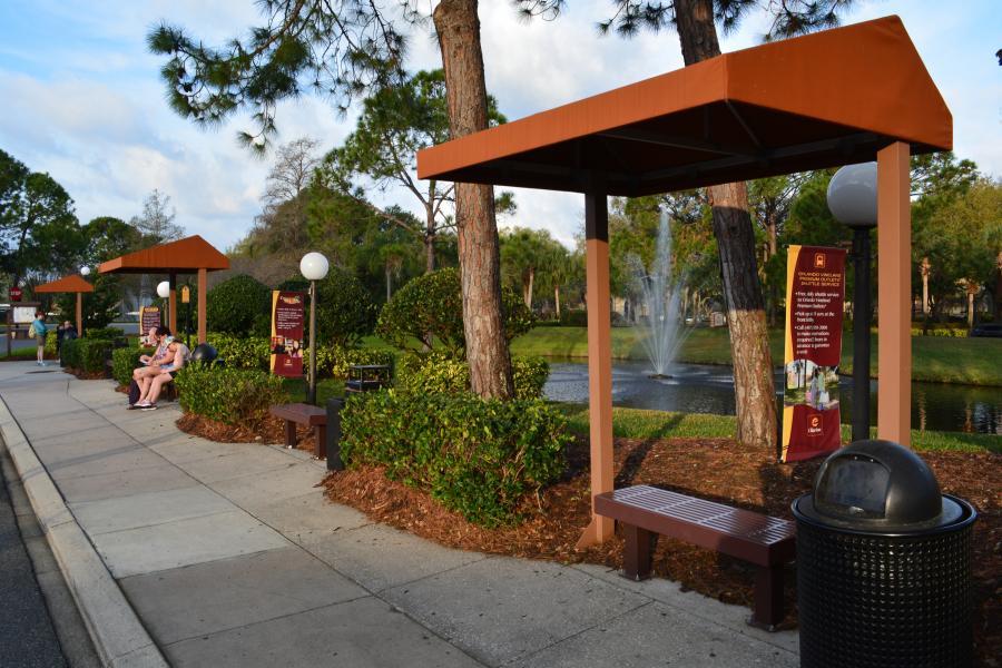 Theme Park Shuttle Bus Stops