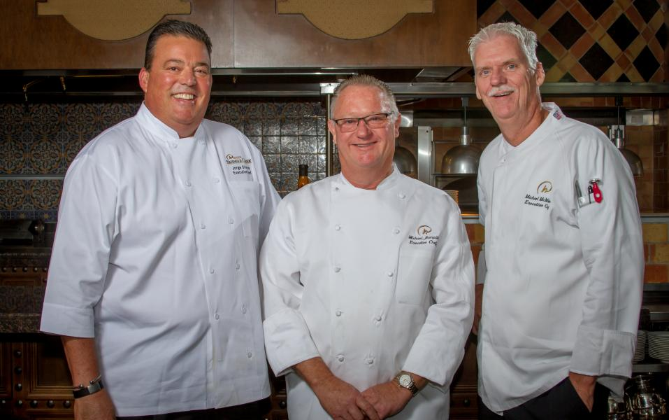 Culinary Trifecta of the Rosen Convention Hotel's Executive Chefs.