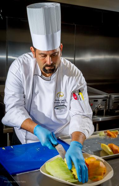 Chef Ricky Lopez preparing kosher delights for Zayde's Kosher Catering.