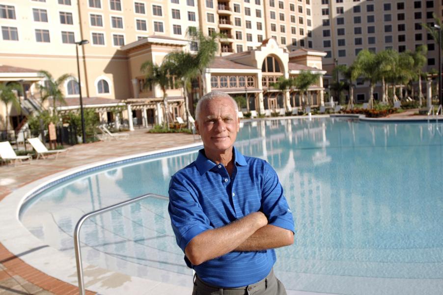 Harris Rosen, President & COO, Rosen Hotels & Resorts, at his seventh hotel, the AAA Four Diamond Ro