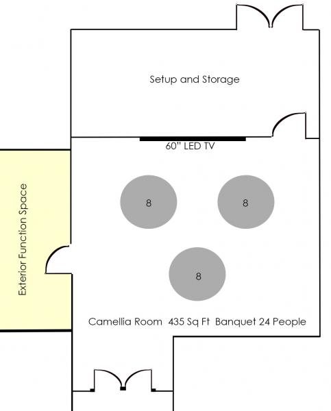 Banquet Style Diagram - Camellia
