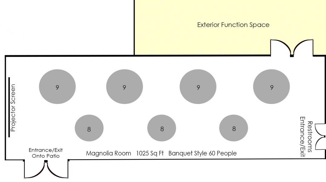 Banquet Style Diagram - Magnolia