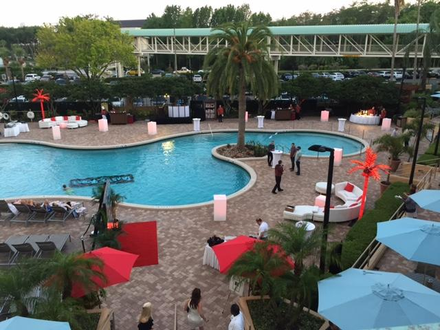Poolside is an ideal location for special events and Orlando's balmy breezes.