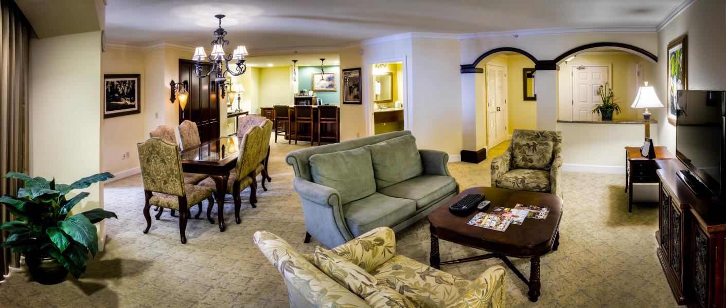 The Executive Suite exudes a refined elegance with all of the comforts of home.