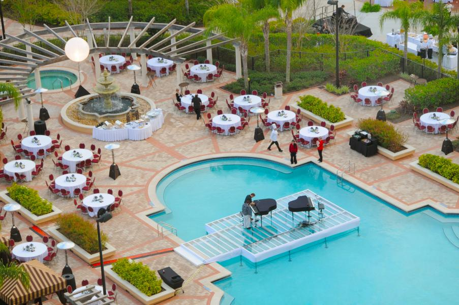Rosen Shingle Creek's stunning quiet pool, a showcase for the unexpected for special events.