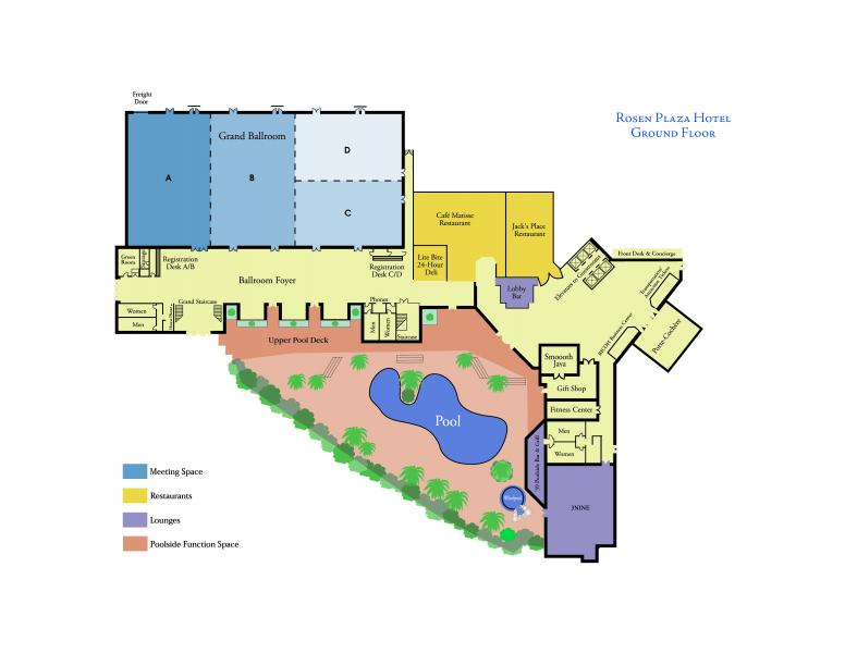 Rosen Plaza Ground Floor Plan