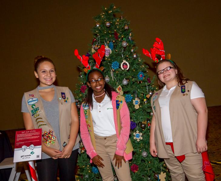 Girl Scouts of Citrus Holiday Charity Tree