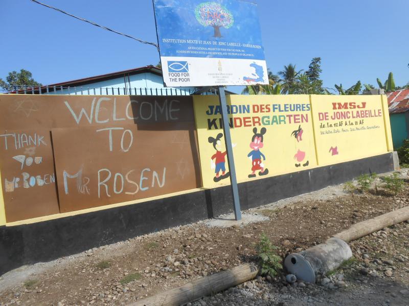 Dec. 2017 (Haiti) Community thanks for the Institution Mixte St Jean De Jonc Labeille-Harris Rosen school in Haiti.
