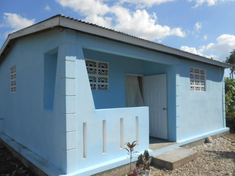 Dec. 2017 (Haiti) One of the more than 100 Haitian homes rebuilt by Harris Rosen after the 2016 hurricane.