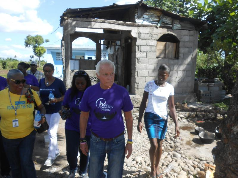 Dec. 2017 (Haiti) Harris Rosen tours some of the Haitian establishments devastated by Hurricane Matthew.