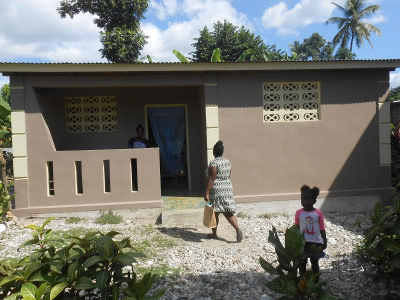 Dec. 2017 (Haiti) A new family home in Haiti, one of more than 100 rebuilt by Harris Rosen.