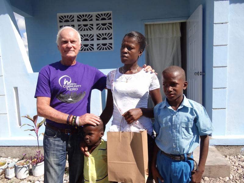 Dec. 2017 (Haiti) A mother has a new home for her sons in Haiti.