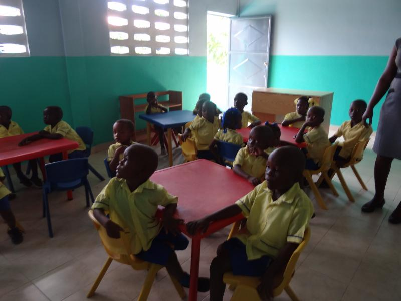 Dec. 2017 (Haiti) A new school building for kindergarten students in Haiti.