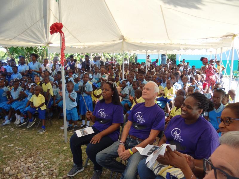 Dec. 2017 (Haiti) At the official dedication of the Institution Mixte St Jean De Jonc Labeille-Harris Rosen school.